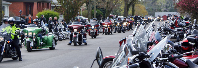 Motorcycles at Friday the 13th in Port Dover.